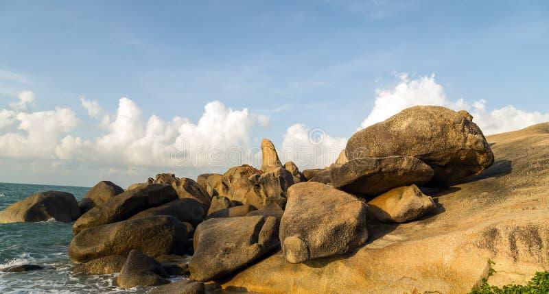 De Grootvaderrots Koh Samui, Thailand stock afbeelding