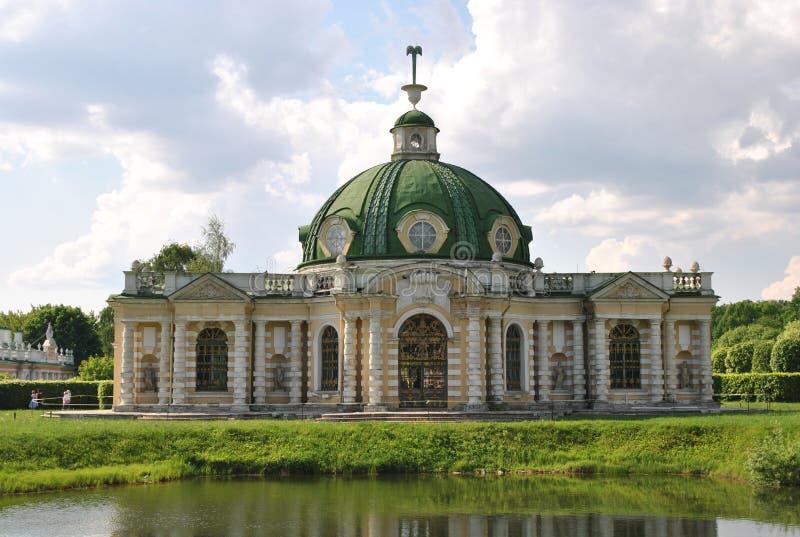 De Grot in de manor ` Kuskovo `, Moskou van Sheremetev ` s royalty-vrije stock afbeelding