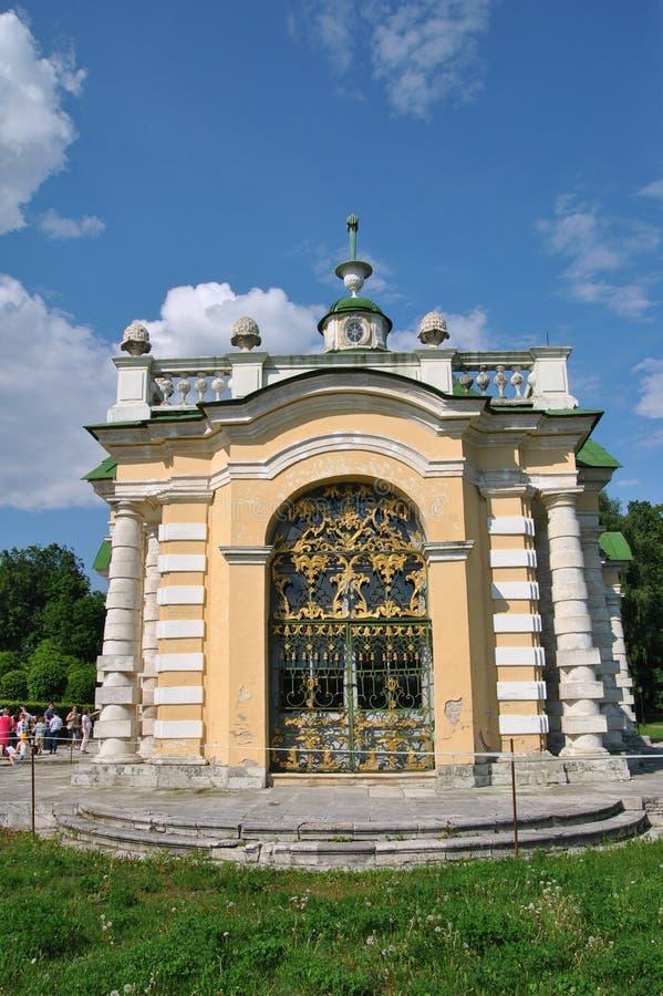 De Grot in de manor ` Kuskovo `, Moskou van Sheremetev ` s stock foto