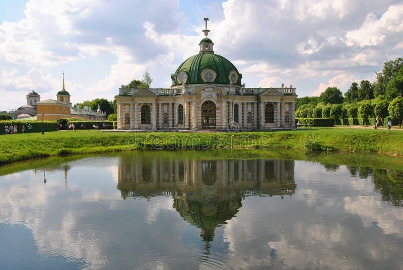 De Grot in de manor ` Kuskovo `, Moskou van Sheremetev ` s royalty-vrije stock foto