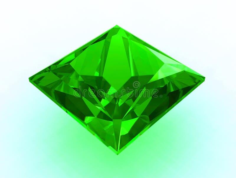 De grote 3D smaragd van de prinsesbesnoeiing - vector illustratie