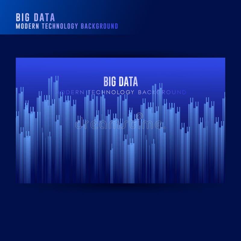 De grote achtergrond van het gegevensconcept Digitale technologie abstracte achtergrond Technologie visueel voor het scherm achte royalty-vrije illustratie