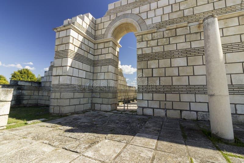 De Grote Basiliek van Pliska royalty-vrije stock foto
