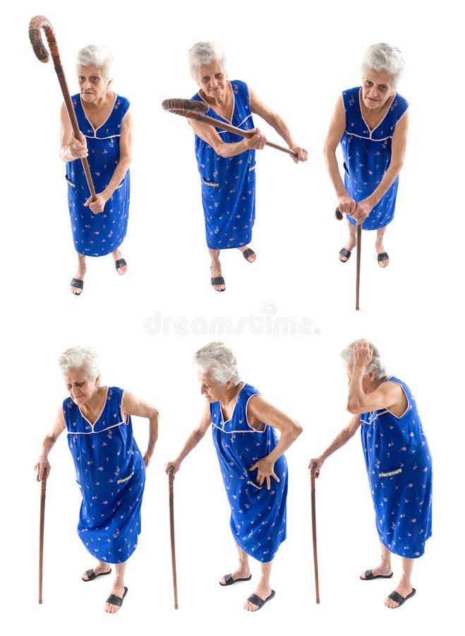 De grote Bejaarden van de Reeks stock afbeeldingen