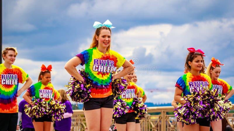 De Grote Bloemenparade 2016 van Portland stock afbeeldingen