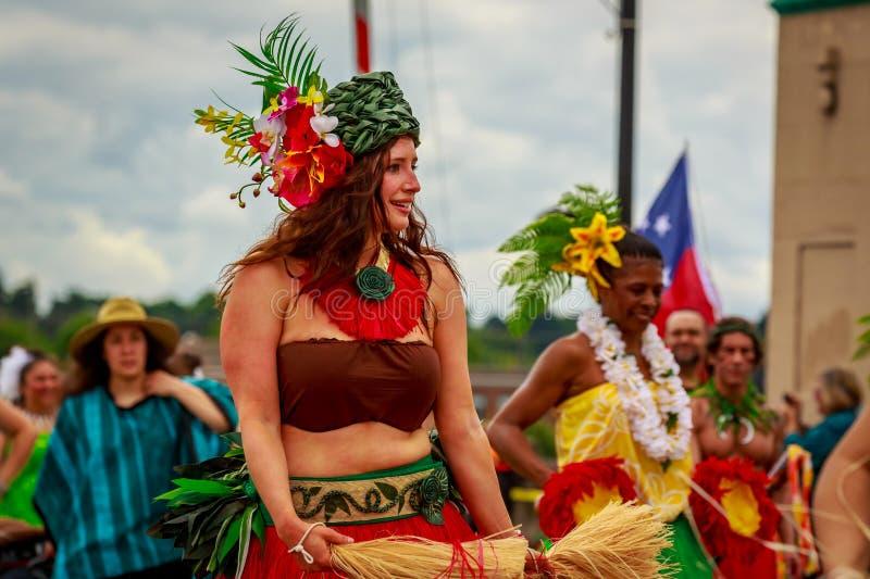 De Grote Bloemenparade 2019 van Portland stock fotografie