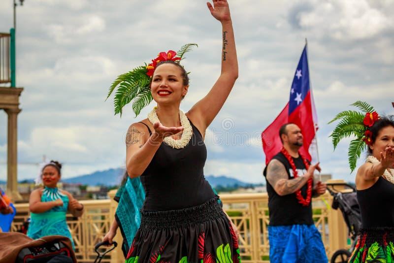 De Grote Bloemenparade 2019 van Portland royalty-vrije stock afbeeldingen