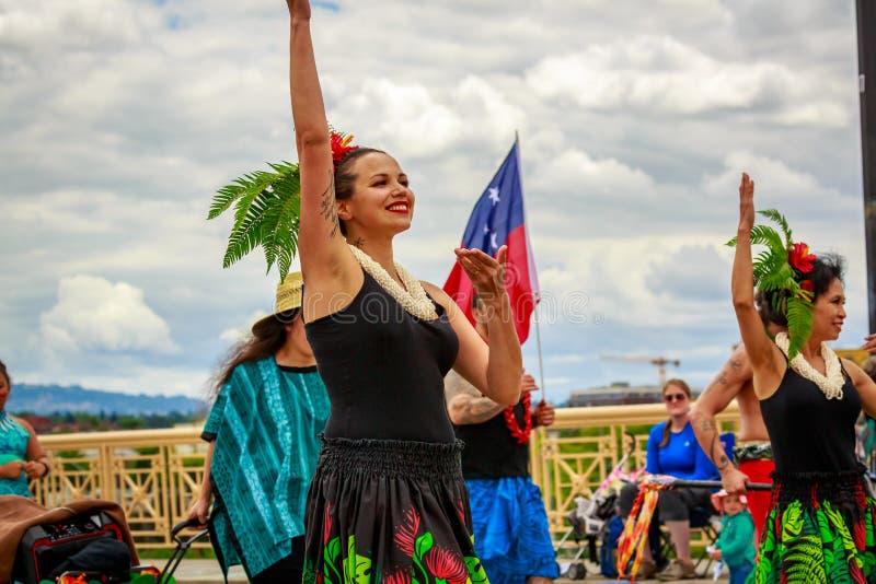De Grote Bloemenparade 2019 van Portland royalty-vrije stock foto