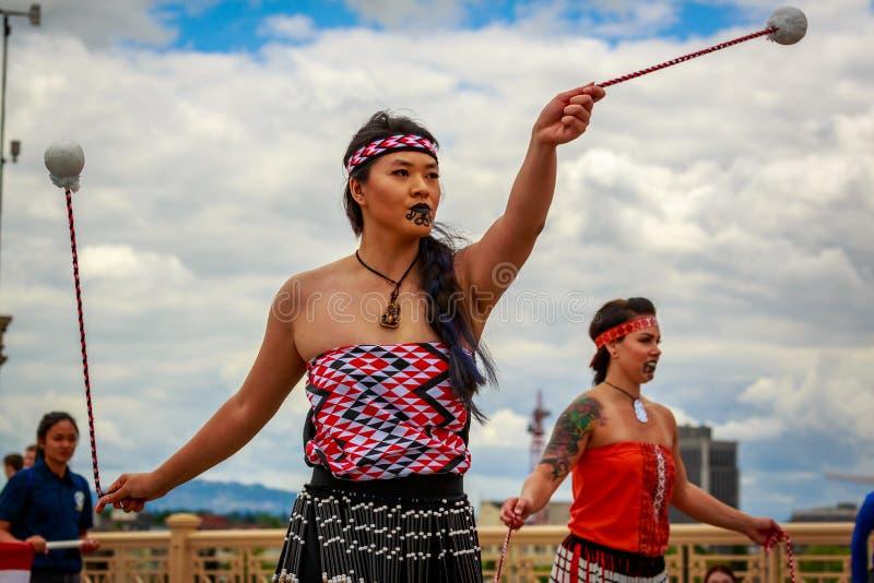 De Grote Bloemenparade 2019 van Portland royalty-vrije stock foto's