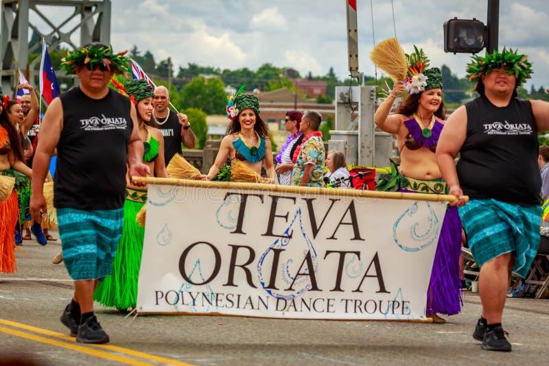 De Grote Bloemenparade 2019 van Portland royalty-vrije stock afbeelding