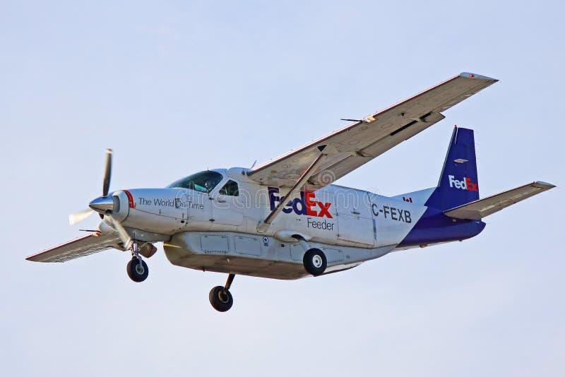 De Grote Caravan Zijaanzicht van Fedex Cessna 208B royalty-vrije stock fotografie