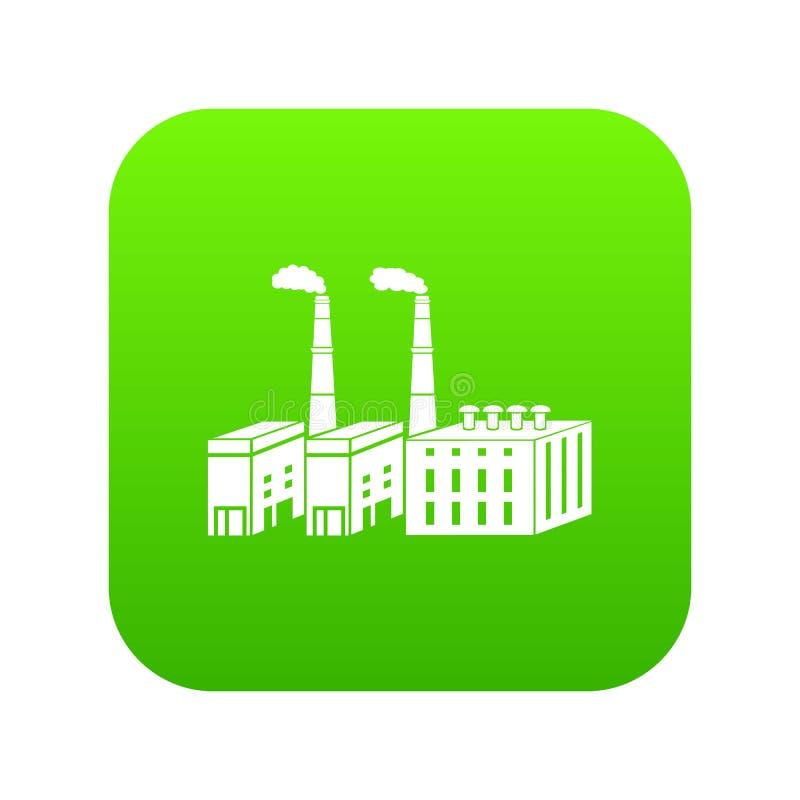 De grote chemische groene vector van het installatiepictogram stock illustratie