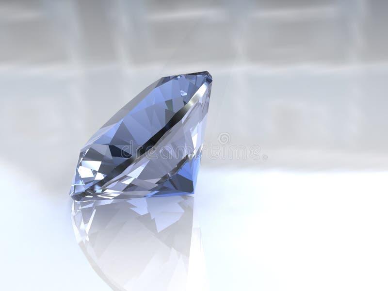 De grote diamant van de hemel blauwe euro besnoeiing royalty-vrije illustratie