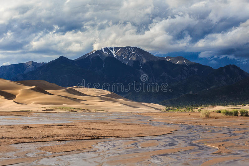 De grote Duinen van het Zand royalty-vrije stock afbeeldingen