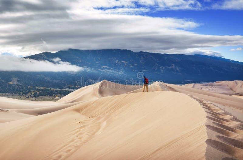 De grote Duinen van het Zand stock afbeelding