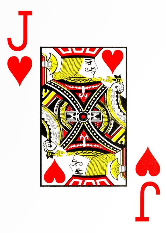 De grote hefboom van de indexspeelkaart van harten royalty-vrije illustratie