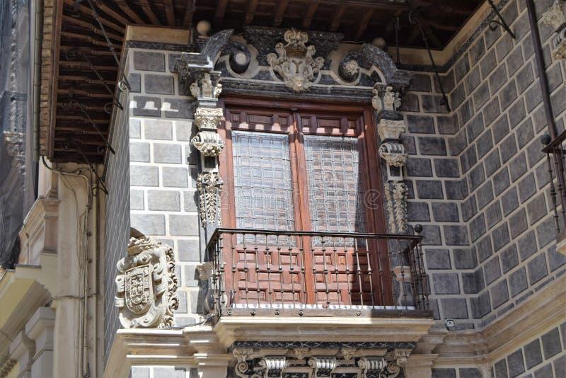 De grote historische stad van Granada van Spanje-Andalusia, Oude Stad stock foto