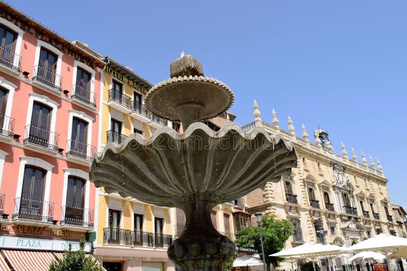 De grote historische stad van Granada van Spanje-Andalusia, Oude Stad royalty-vrije stock fotografie