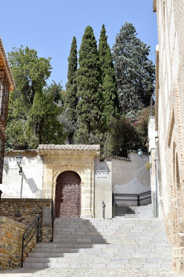 De grote historische stad van Granada van Spanje-Andalusia, Oude Stad stock afbeeldingen