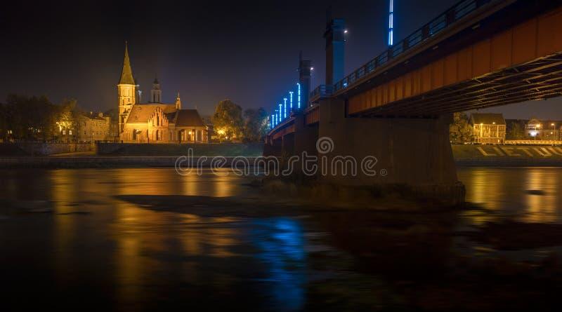 De Grote Kerk van Vytautas in Kaunas, Litouwen royalty-vrije stock afbeelding