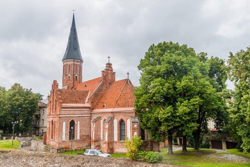 De Grote Kerk van Vytautas van de Veronderstelling van de Vergine Santa Mary in Kaunas, Lithuani stock foto