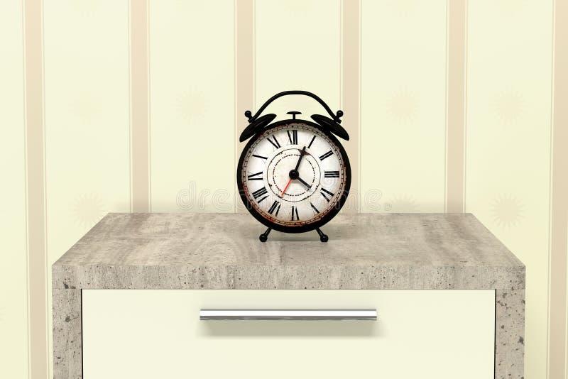 De grote klok verzekert omhoog kielzog royalty-vrije illustratie