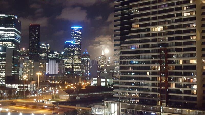 De grote maan van Melbourne royalty-vrije stock afbeeldingen
