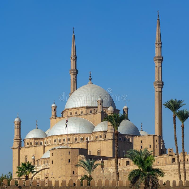 De Grote Moskee van de ottomanestijl van Muhammad Ali Pasha, Citadel van Kaïro, één van de oriëntatiepunten van Kaïro, Egypte royalty-vrije stock afbeeldingen