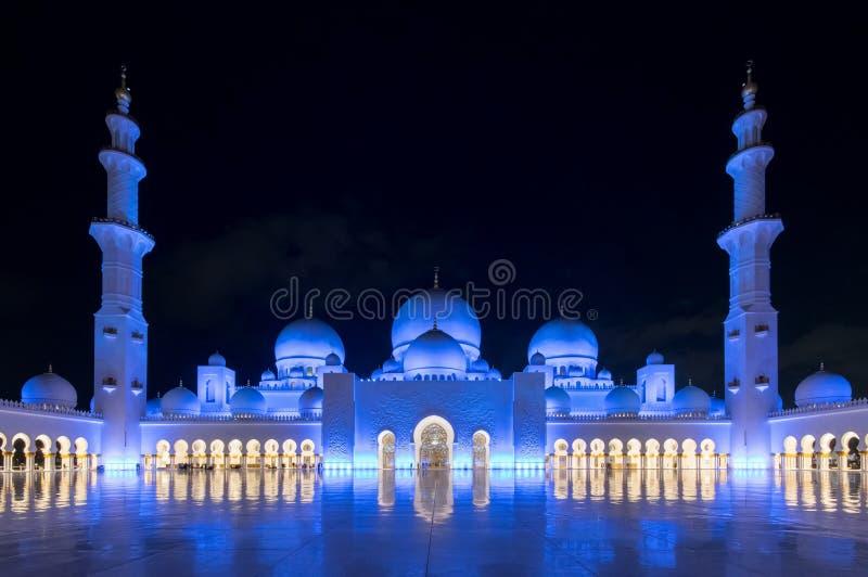 De Grote Moskee van Zayed van de sjeik, Abu Dhabi stock fotografie