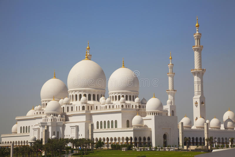 De Grote Moskee van Zayed van de sjeik, Abu Dhabi, de V.A.E stock foto's