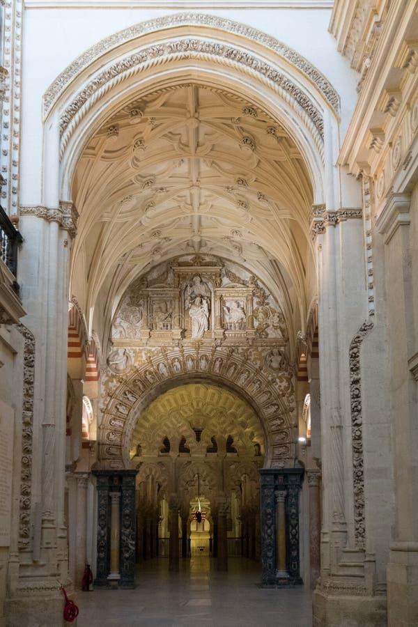 De Grote Moskeekathedraal van het Binnenland van Cordoba royalty-vrije stock foto's