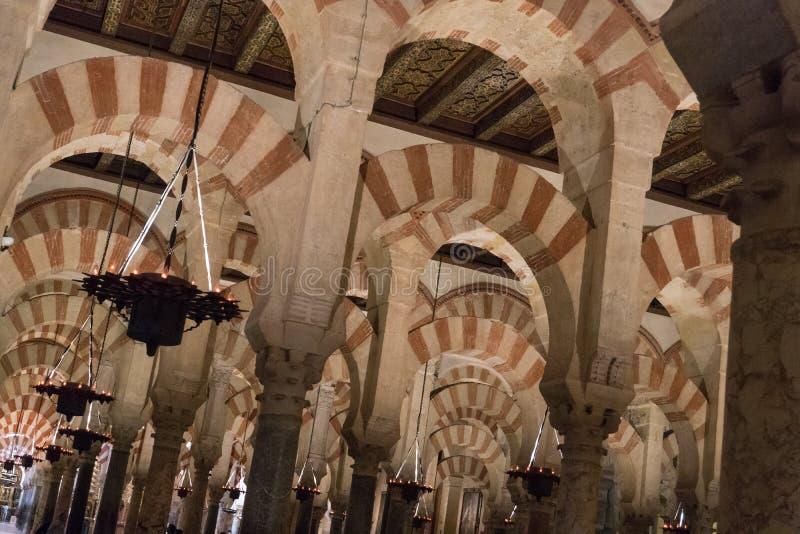 De Grote Moskeekathedraal van het Binnenland van Cordoba stock afbeeldingen