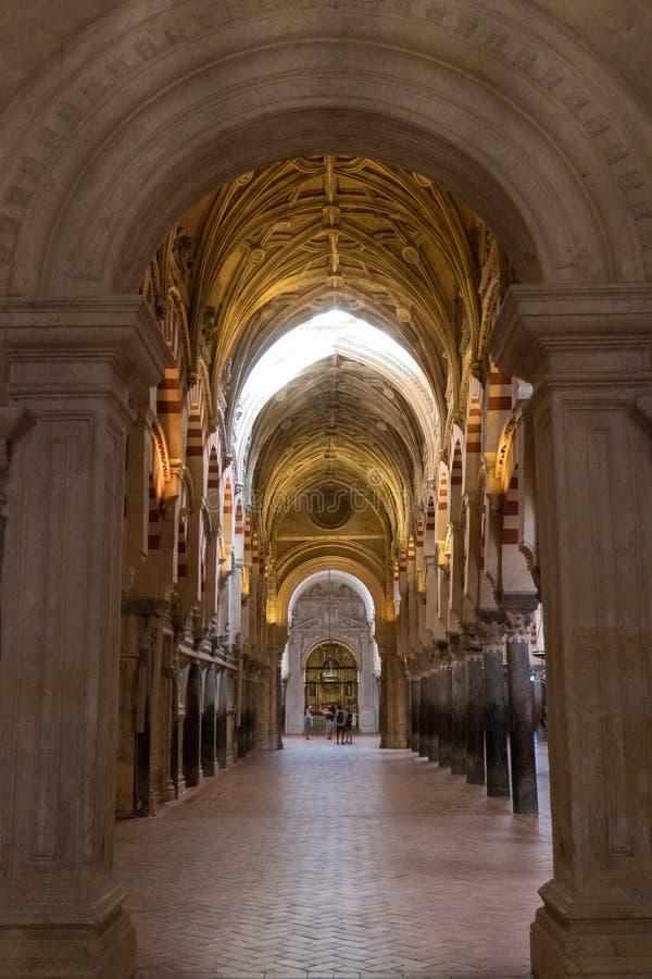 De Grote Moskeekathedraal van het Binnenland van Cordoba royalty-vrije stock afbeelding