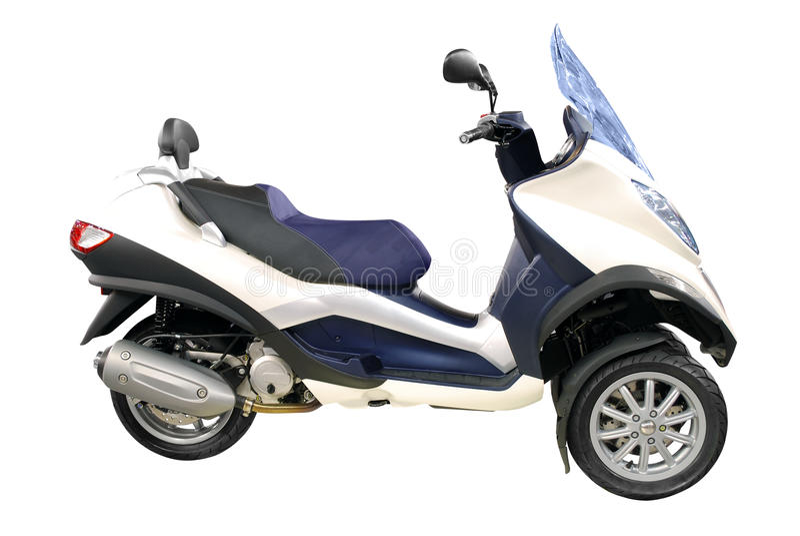 De grote motorfiets van de stadsautoped stock foto