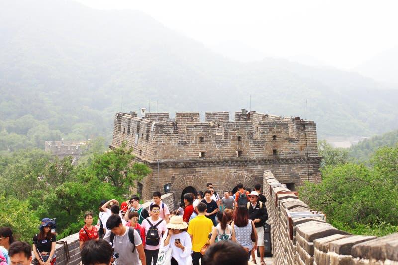De Grote Muur van Badaling stock fotografie