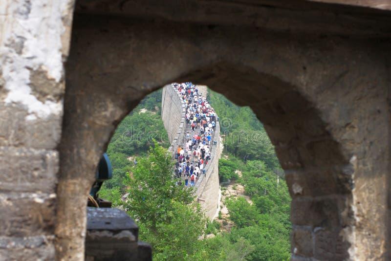 De Grote Muur van Badaling royalty-vrije stock afbeelding