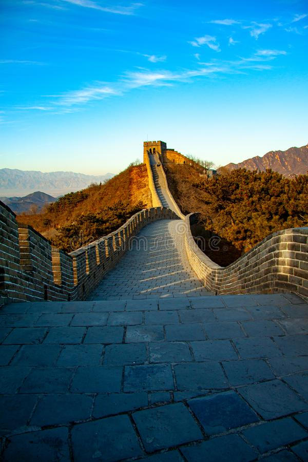 De Grote Muur van China - beeld stock foto's