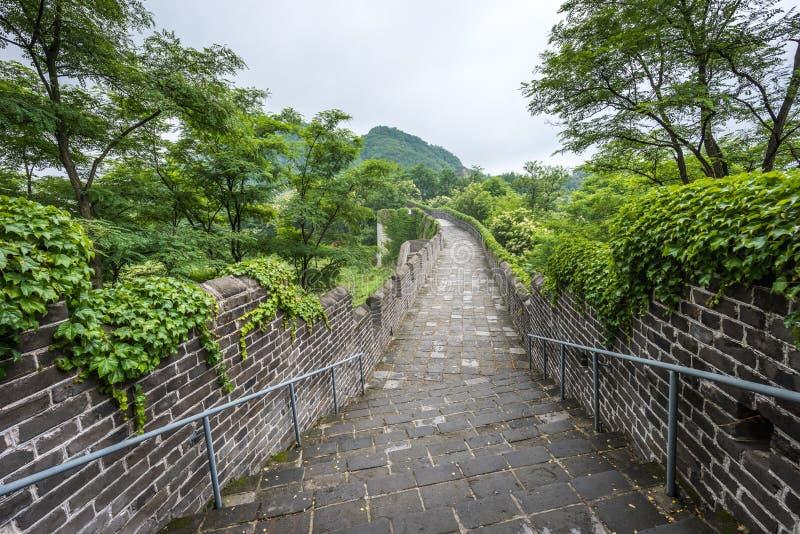 De Grote Muur van China in Dandong royalty-vrije stock afbeelding