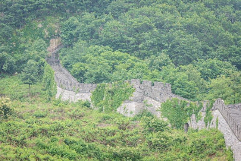 De Grote Muur van China in Dandong royalty-vrije stock foto's