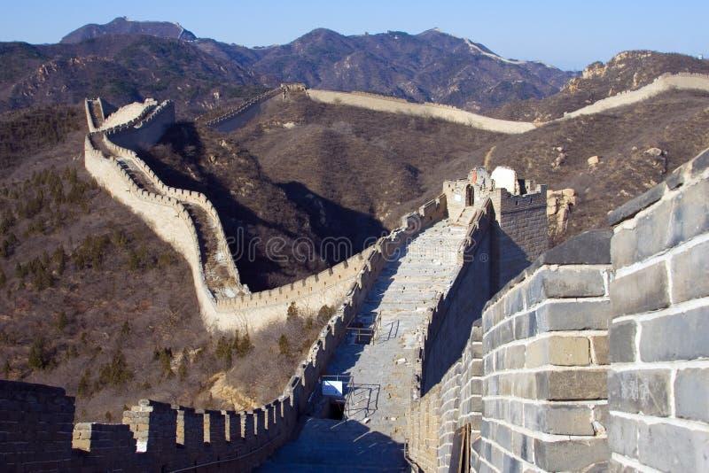 De grote Muur van China IV stock foto