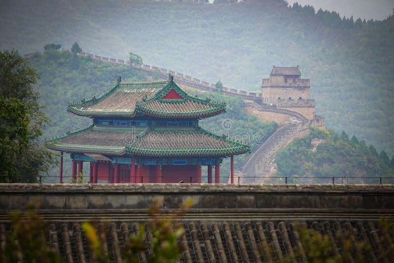 De Grote Muur van China in Peking royalty-vrije stock afbeelding