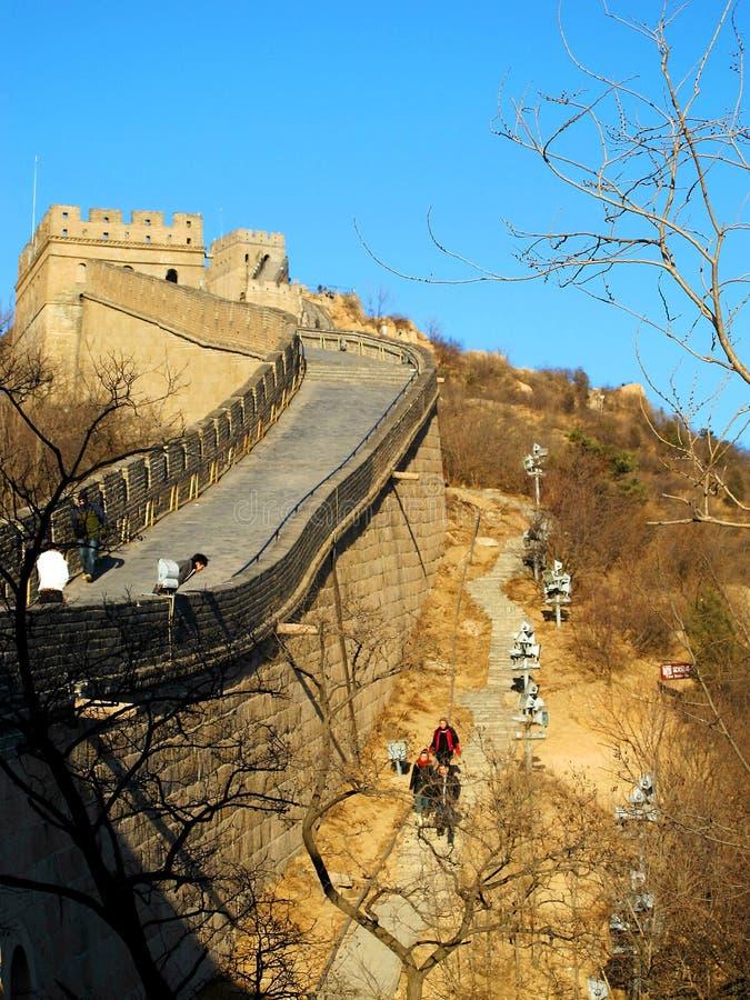 De Grote Muur van China (Peking, China) stock afbeeldingen