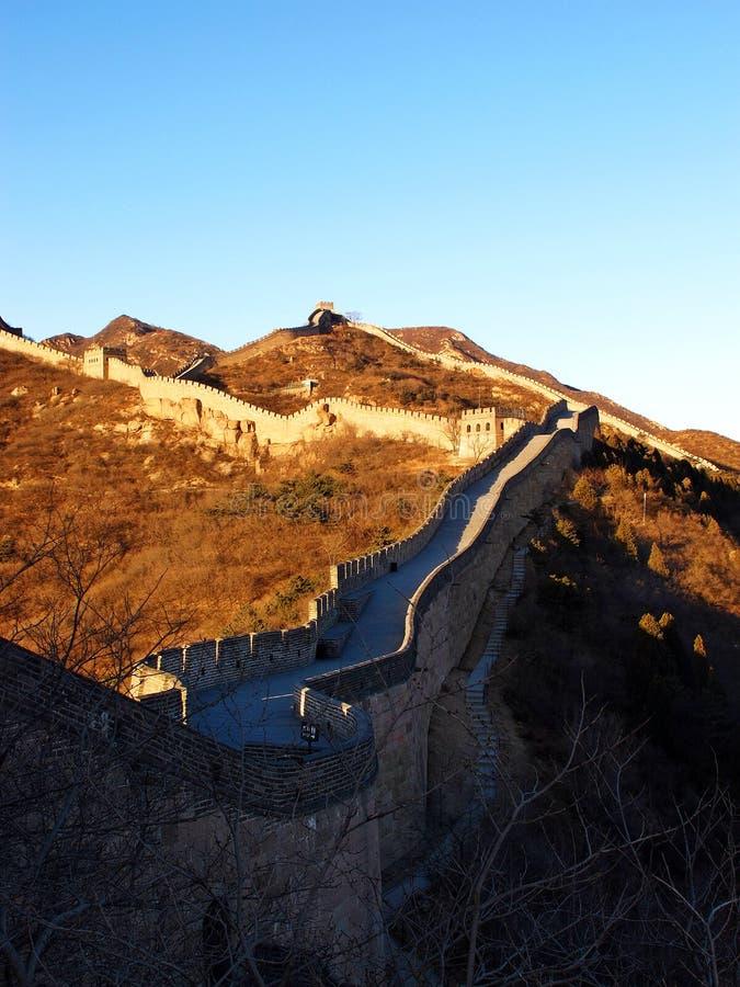 De Grote Muur van China (Peking, China) royalty-vrije stock afbeelding