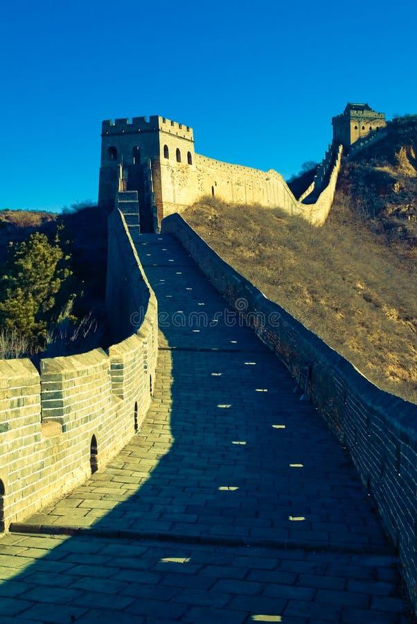 De Grote Muur van Jiankou, Peking, China, Azië royalty-vrije stock afbeelding