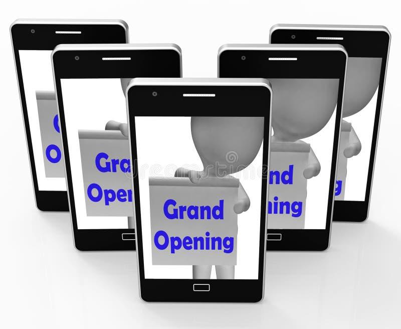 De grote Openingslancering van Tekenmiddelen van Nieuwe Zaken stock illustratie