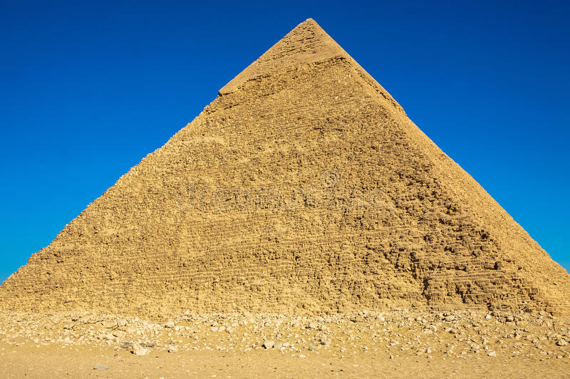 De grote Piramide van Giza stock foto's