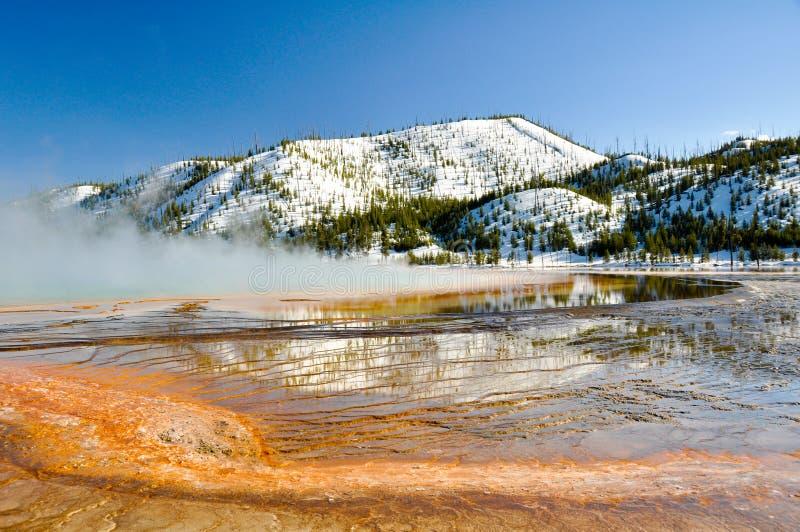 De grote Prismatische Lente, Nationaal Park Yellowstone royalty-vrije stock fotografie