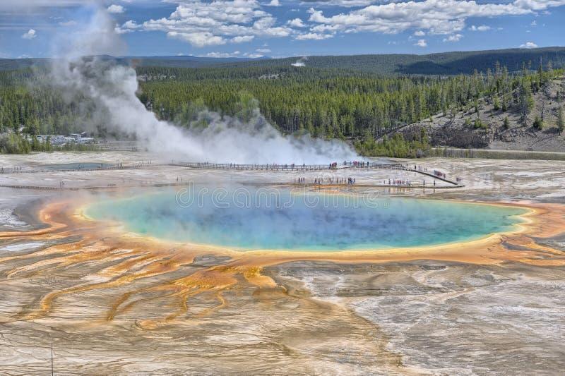 De grote Prismatische Lente, Nationaal Park Yellowstone stock foto's