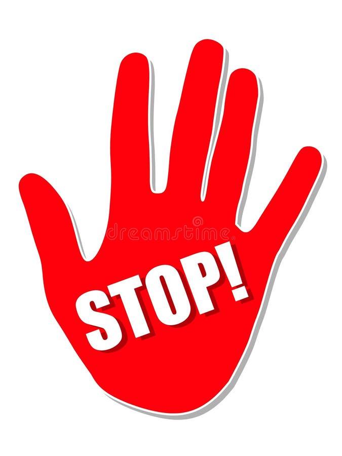 De grote Rode Hand van het Einde royalty-vrije illustratie