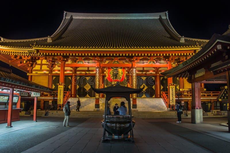 De Grote rode Lantaarn bij tempel Senso -senso-ji royalty-vrije stock afbeeldingen